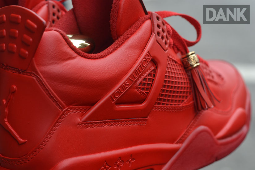 Air Jordan IV 4 Red Don Louis Vuitton by Dank Customs (3)