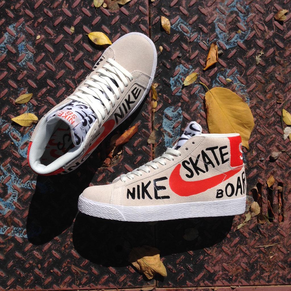 Nike SB Let an Artist Draw All Over the Blazer  14e98cdbe