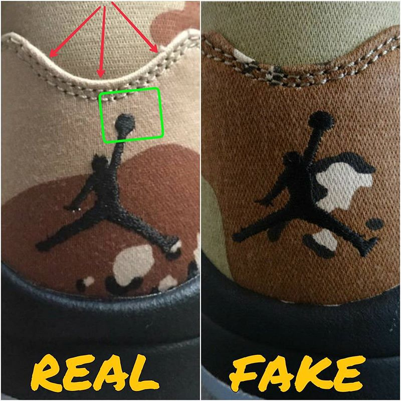 the latest 79316 ddfe2 How To Tell If Your 'Camo' Supreme Air Jordan 5s Are Real or ...