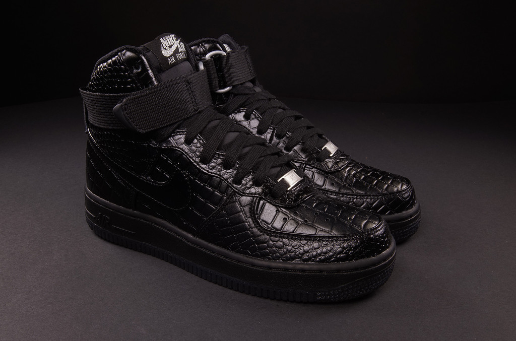 nike air force schwarz krokodil