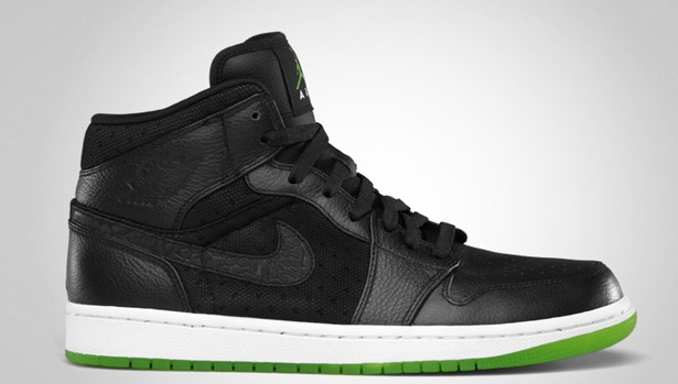 Air Jordan 1 Phat Mid Black/Action Green-White