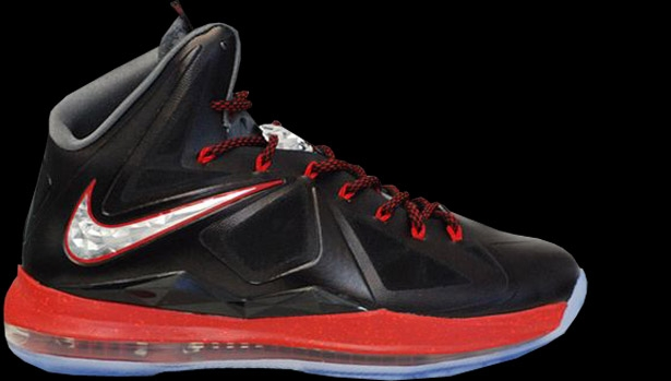 Nike LeBron X+ Black/University Red