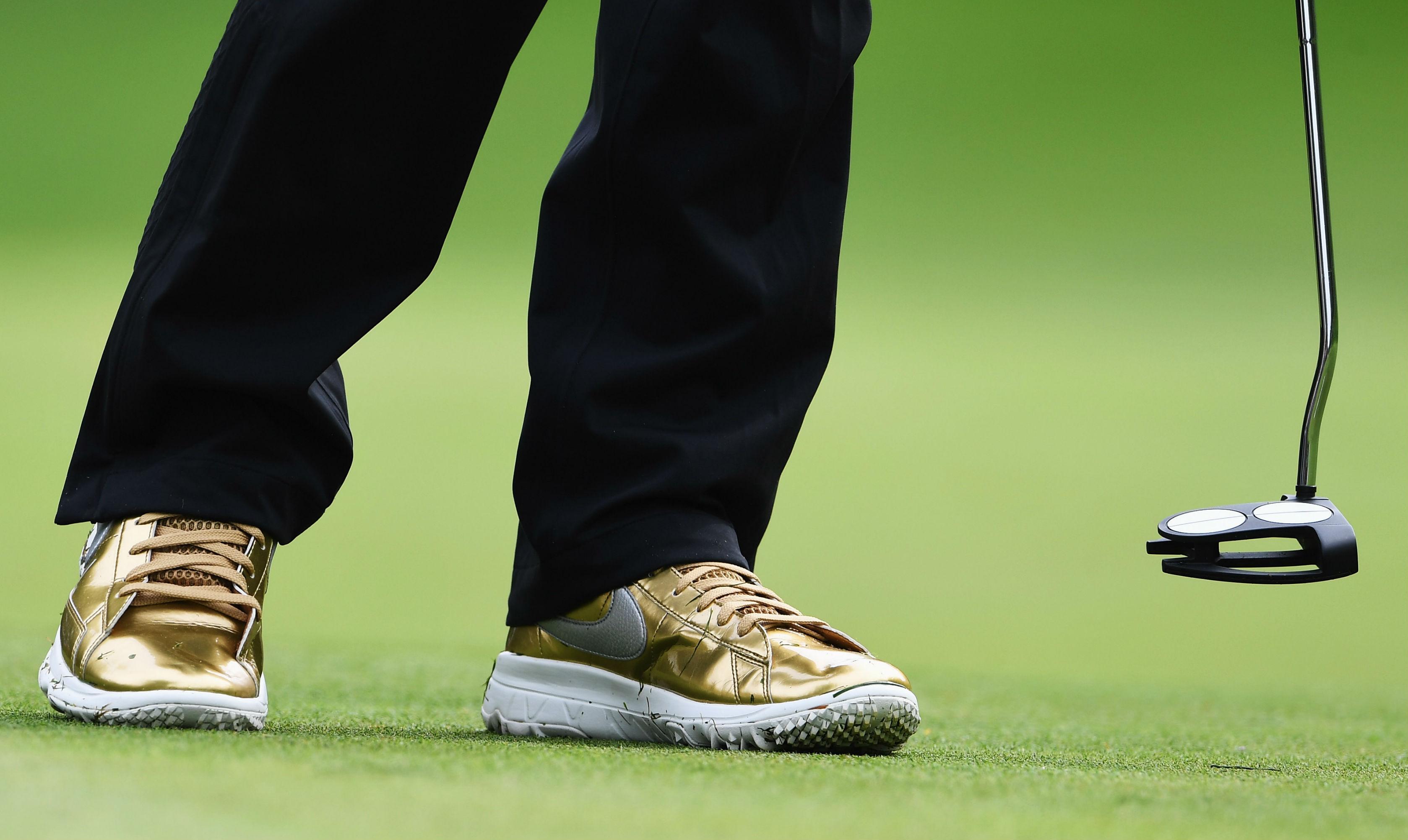 3211798bf Michelle Wie Gold Nike Blazer Golf Shoes