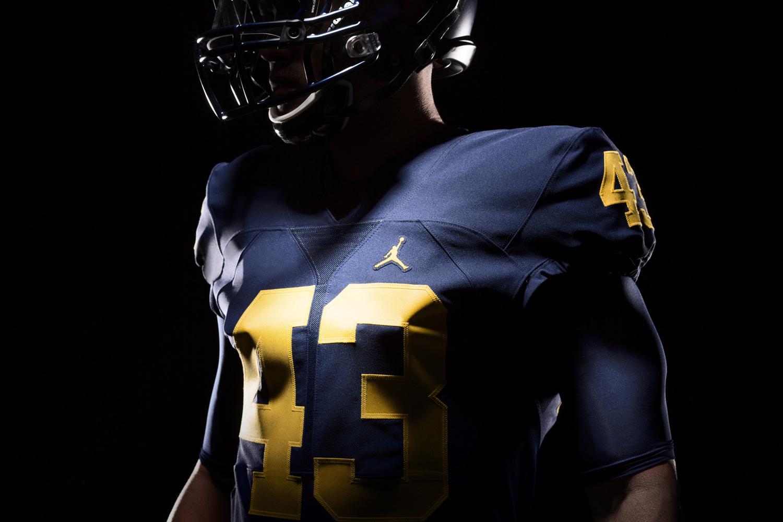 3bbdc29317011 Air Jordan uniforms for the Michigan Wolverines football team