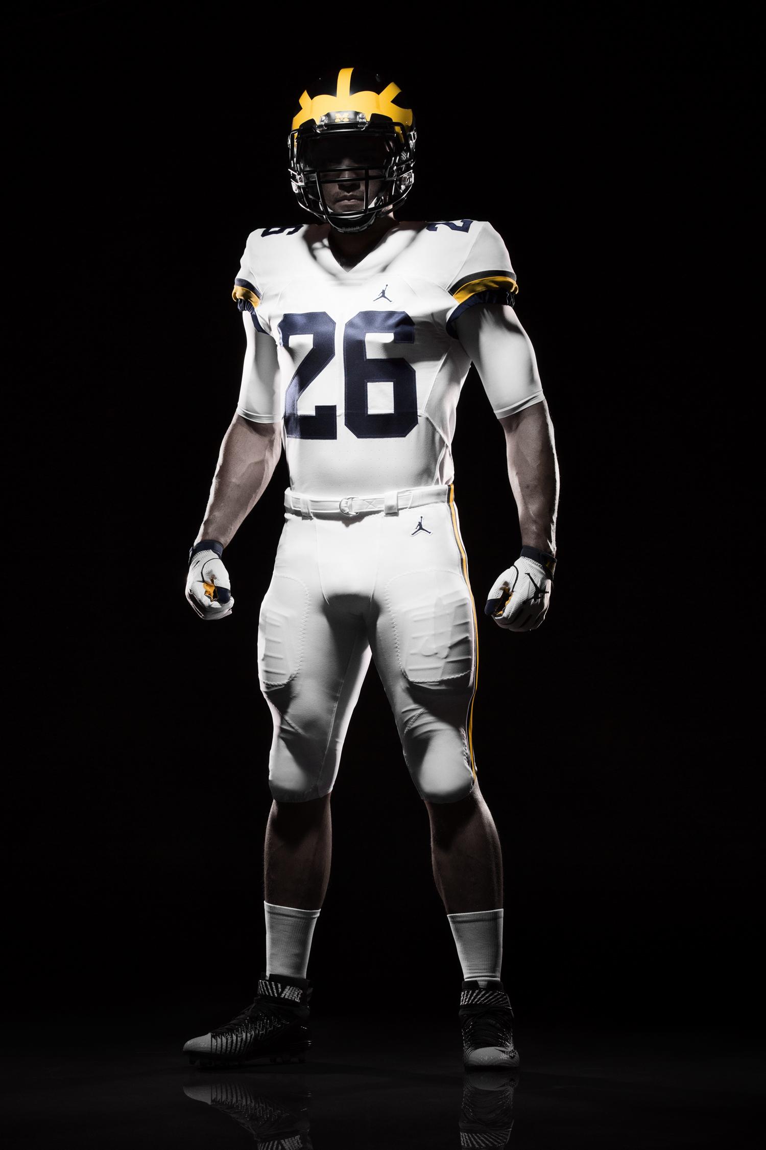 cf100cd92 Air Jordan uniforms for the Michigan Wolverines football team