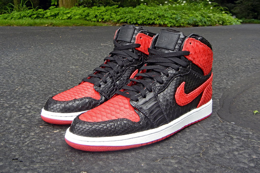Air Jordan 1 'Bred' Python by JBF Customs (1)