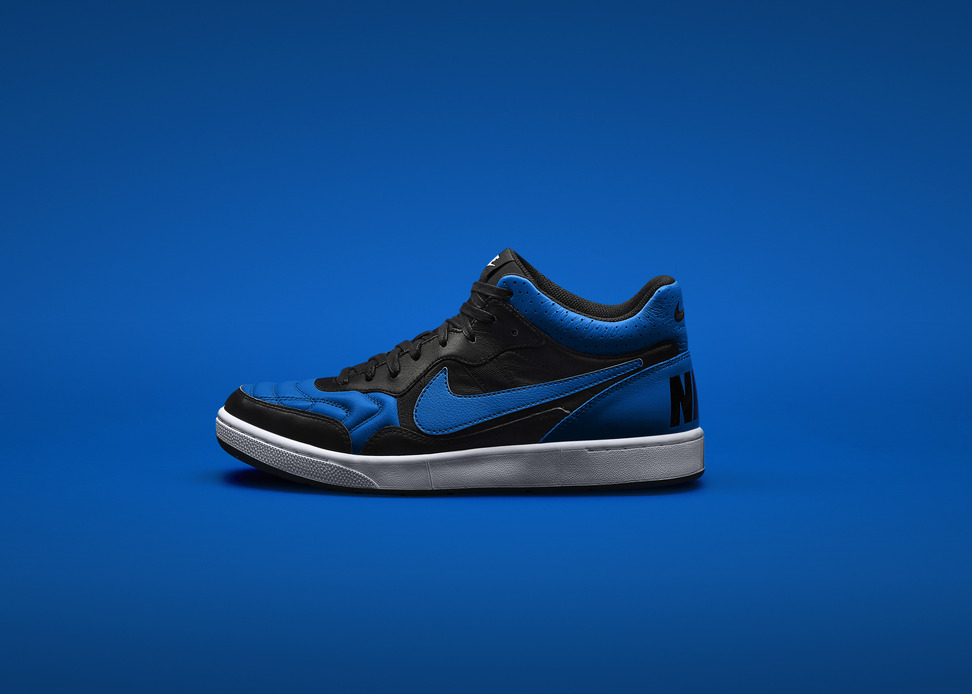 Marco Materazzi x Nike Tiempo 94 Air Jordan in Black Royal Profile