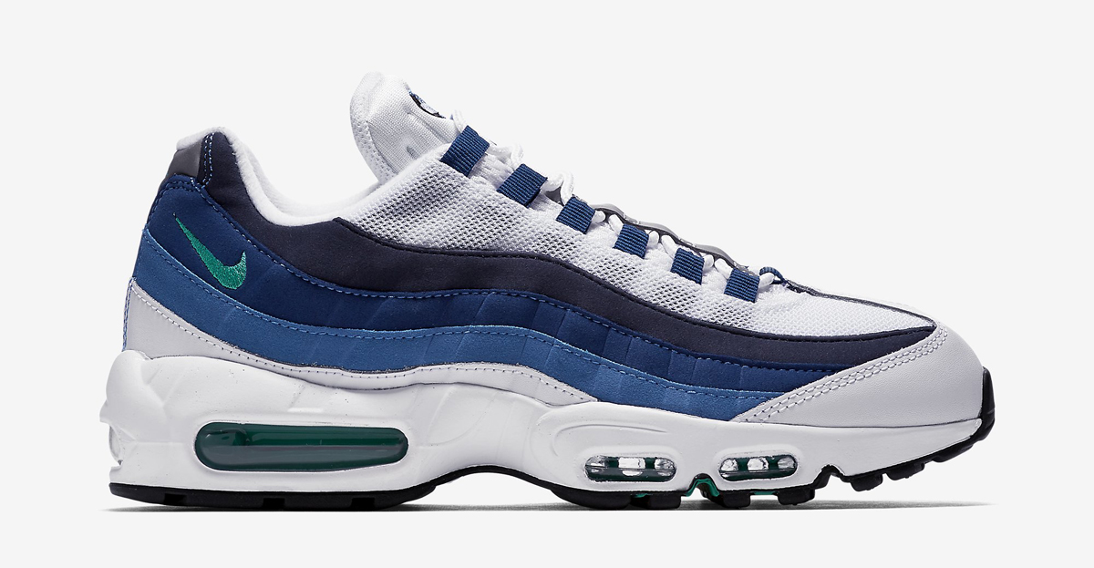 Slate Nike Air Max 95 on blue color schemes