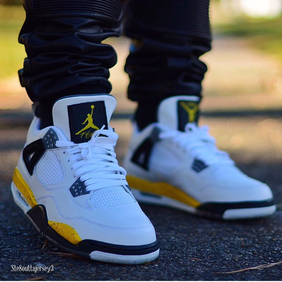 more photos 4b285 e0bb4 Shoe  Air Jordan 4 Retro LS  Tour Yellow