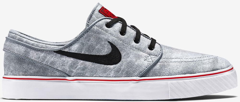 Nike Zoom Stefan Janoski Canvas Premium SB QS Wolf Grey/Black-White-University Red