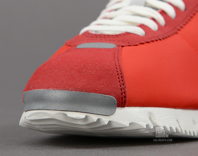 Nike Cortez NM QS in Chilling Red toe reflective detail