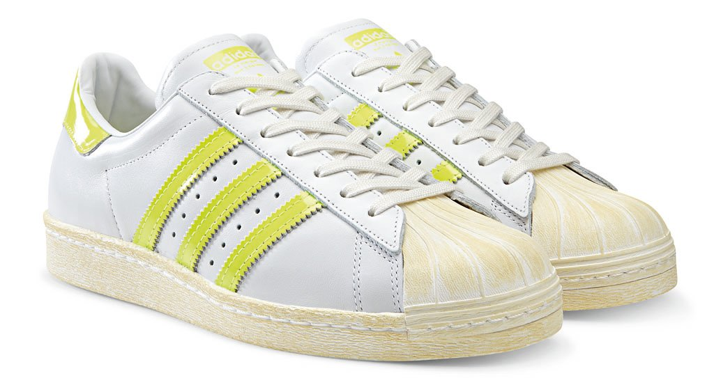 adidas Originals Superstar 80s - Spring/Summer 2014 - White/Neon (1)