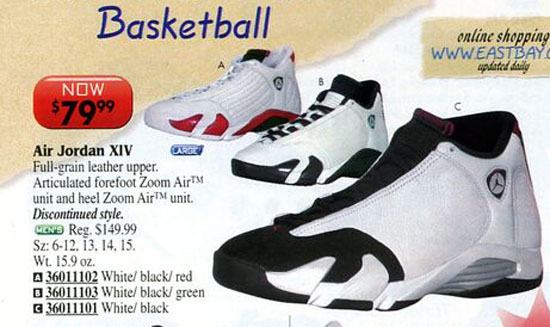 Air Jordan 14 Black Toe in Eastbay Catalog 2000