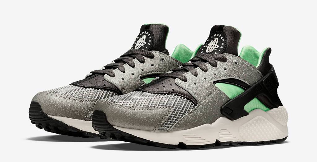 huge discount 0080e 57975  Poison Green  Accents the Latest Nike Air Huarache