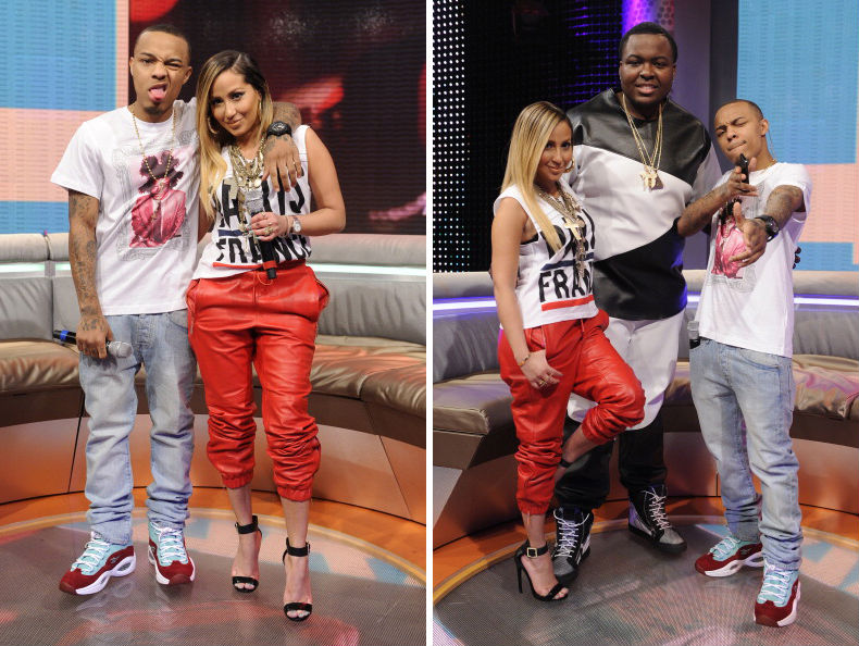 Bow Wow wearing Sneakersnstuff x Reebok Question Green Red (5)