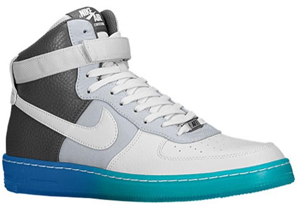 Nike Air Force 1 Downtown Hi Breeze Wolf Grey/Pure Platinum-Dark Grey-Military Blue