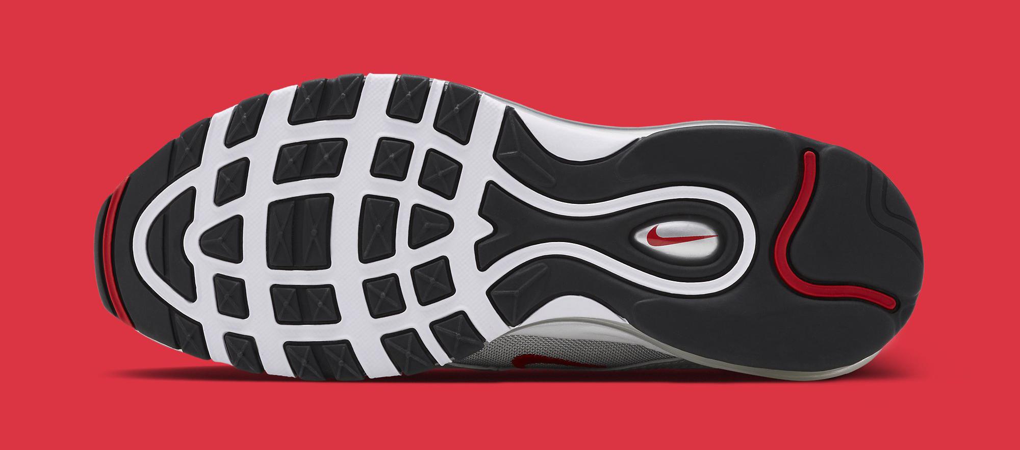 Image via Nike Silver Nike Air Max 97 884421-001 Sole