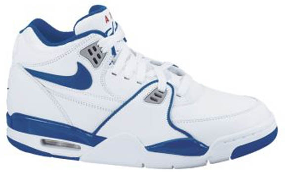 Nike Air Flight '89 White/Dark Royal Blue-Wolf Grey-Varsity Red