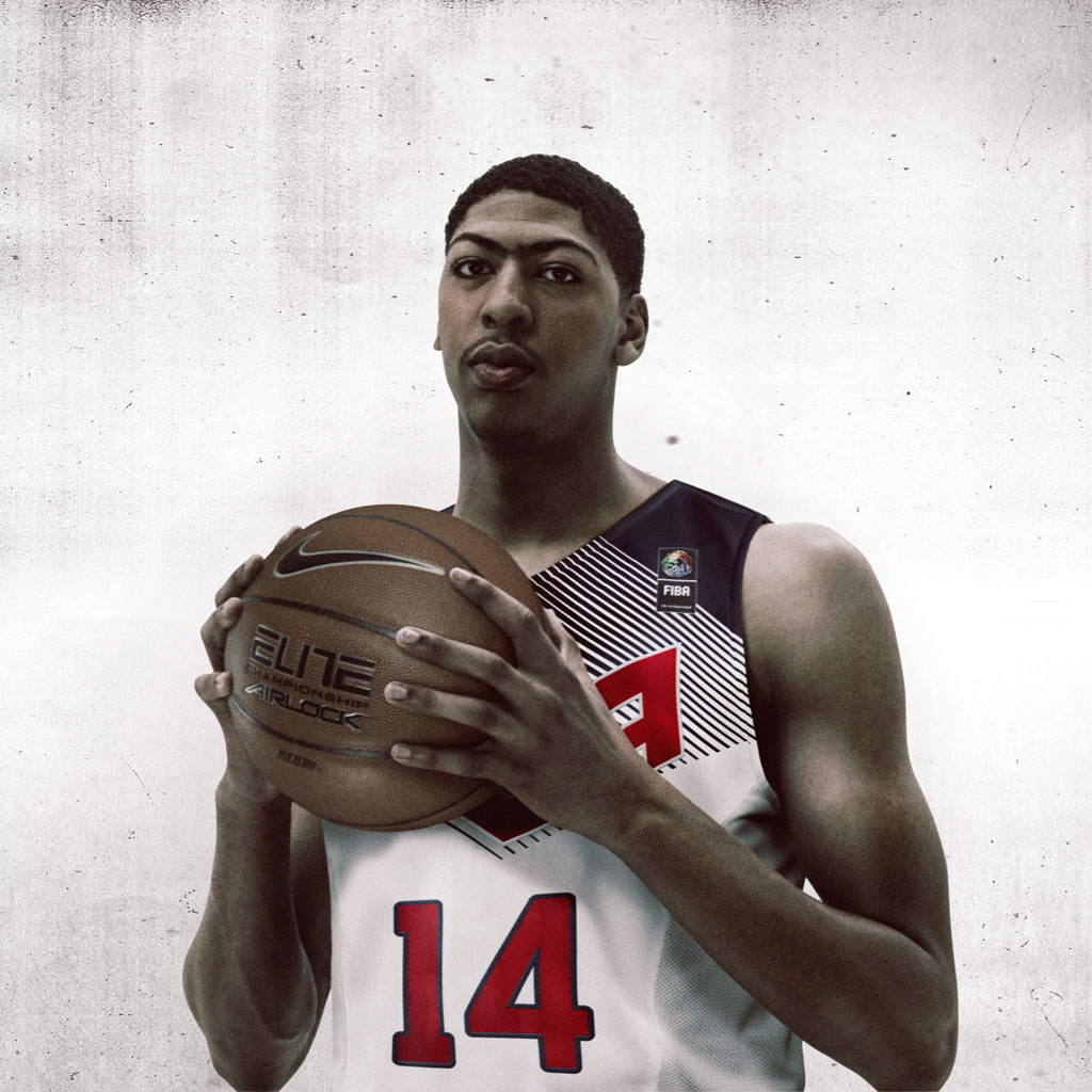 Nike Basketball Unveils 2014 USA Basketball Uniforms - Anthony Davis (1)