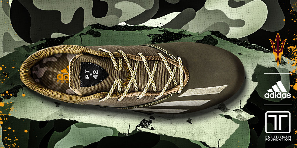 the best attitude ec4a4 04282 New adidas Cleats Salute Pat Tillman and the U.S. Army ...