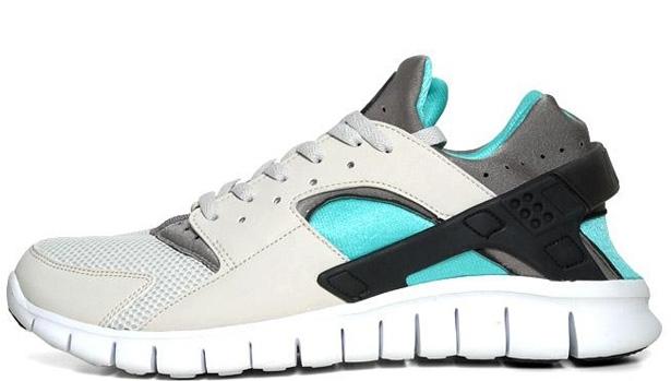 Nike Huarache Free Run 2012 Light Bone/Soft Grey-Calypso