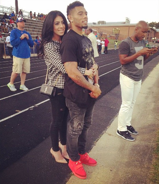 Joe Haden wearing Nike Air Yeezy II 2 Red October