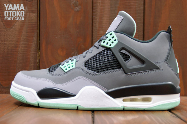 cheaper 1ffed 8245b 8 17 13 Air Jordan Retro 4 308497-033 Dark Grey Green Glow-Cement Grey-Black