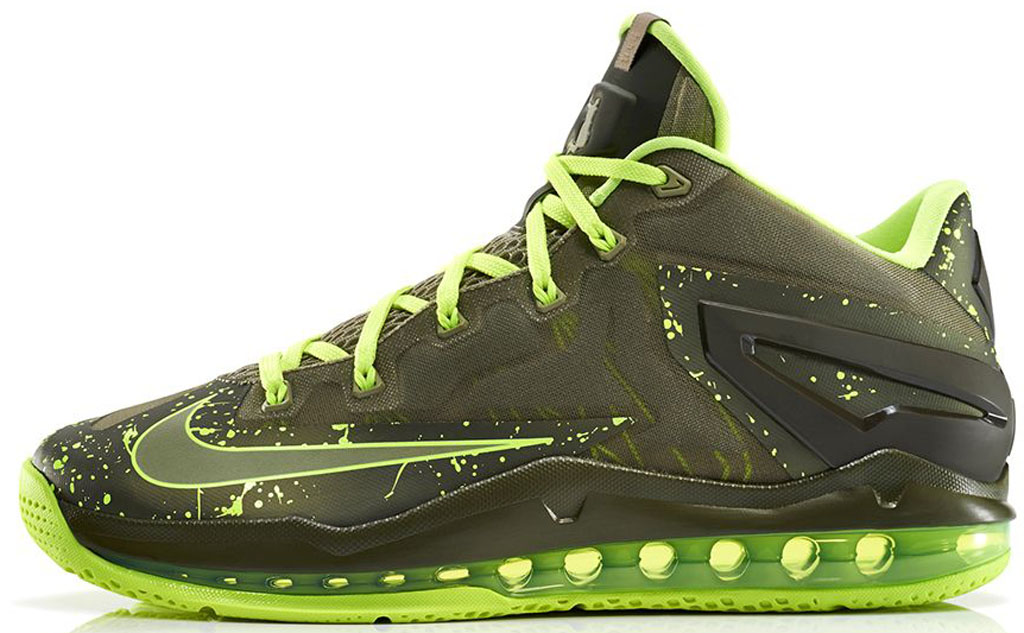 e7cfccc03853 Nike LeBron 11 Low  Dunkman  642849-200 Medium Khaki Medium  Khaki-Volt-Medium Olive