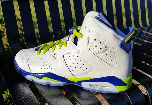 promo code d9018 4bb1a Air Jordan VI 6 GS Fierce Green543390-108. Air Jordan VI 6 Retro GS White Bright  Grape-Deep Royal-Fierce Green