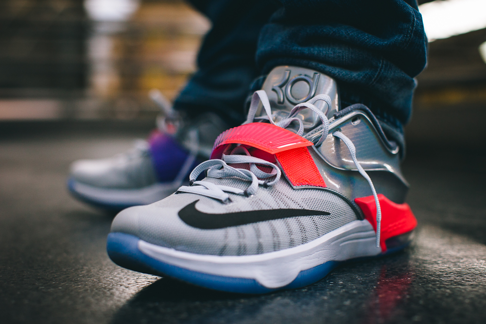 hot sale online 31ad9 93517 ... france heres how the nike kd 7 all star looks on feet b279c e9cc6