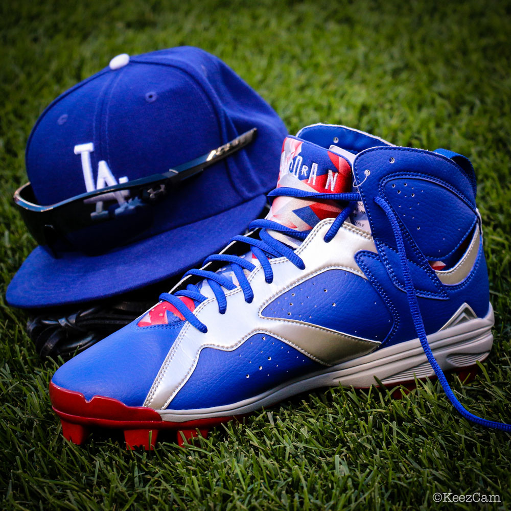 Air Jordan 7 Carl Crawford Dodgers PE Cleats (6)