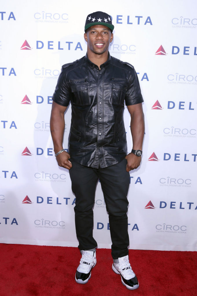 Victor Cruz Wears Air Jordan Retro XI 11 Concord (2)