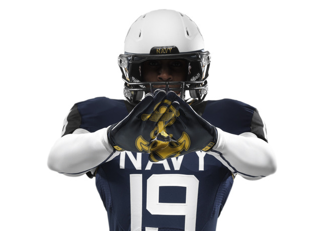114th Army Navy Game Navy Nike Uniform gloves