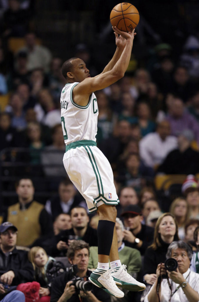 Avery Bradley wearing adidas adizero Crazy Light 2