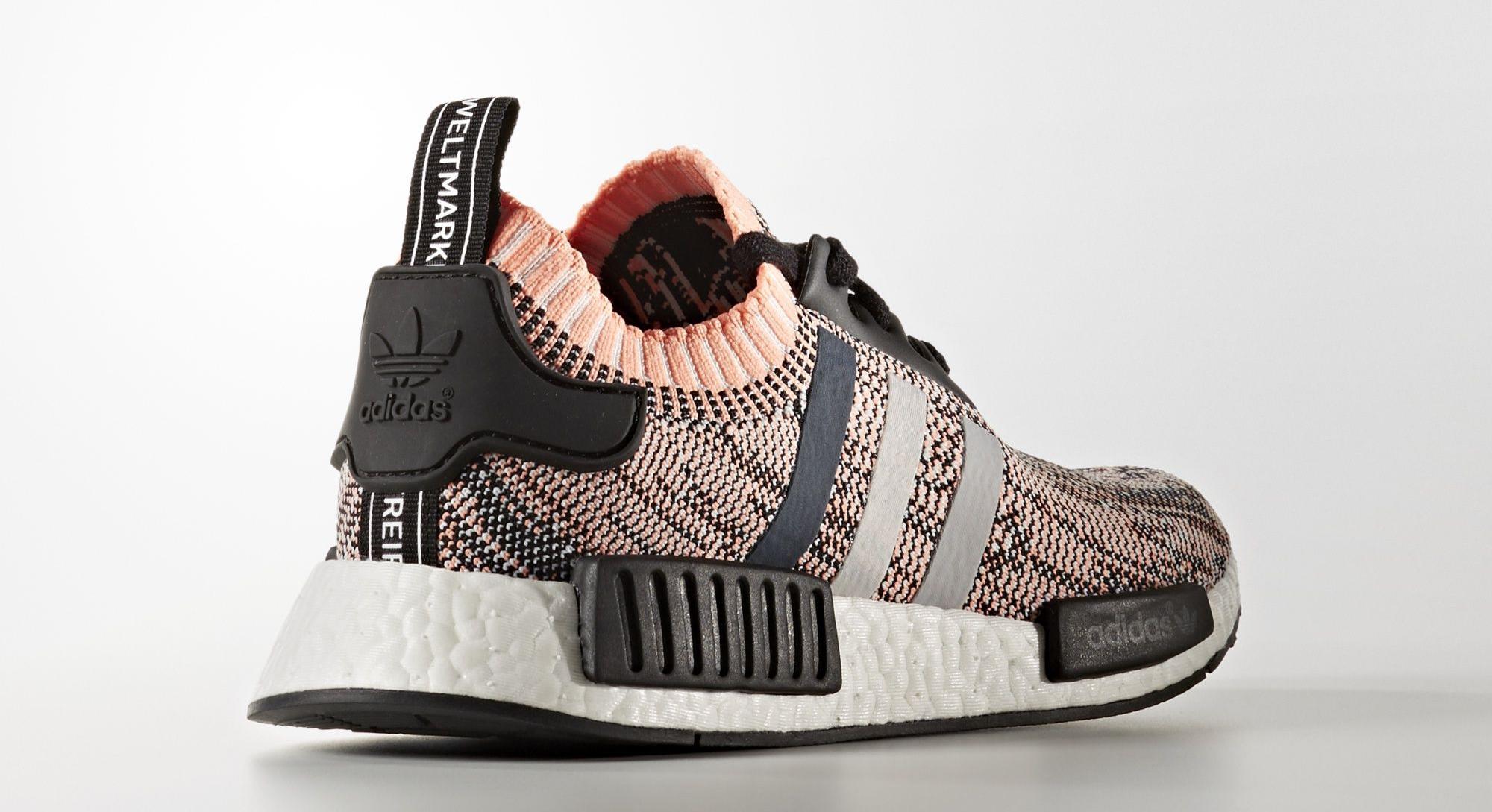 Adidas Glitch Camo NMD BB2361 Pink Heel