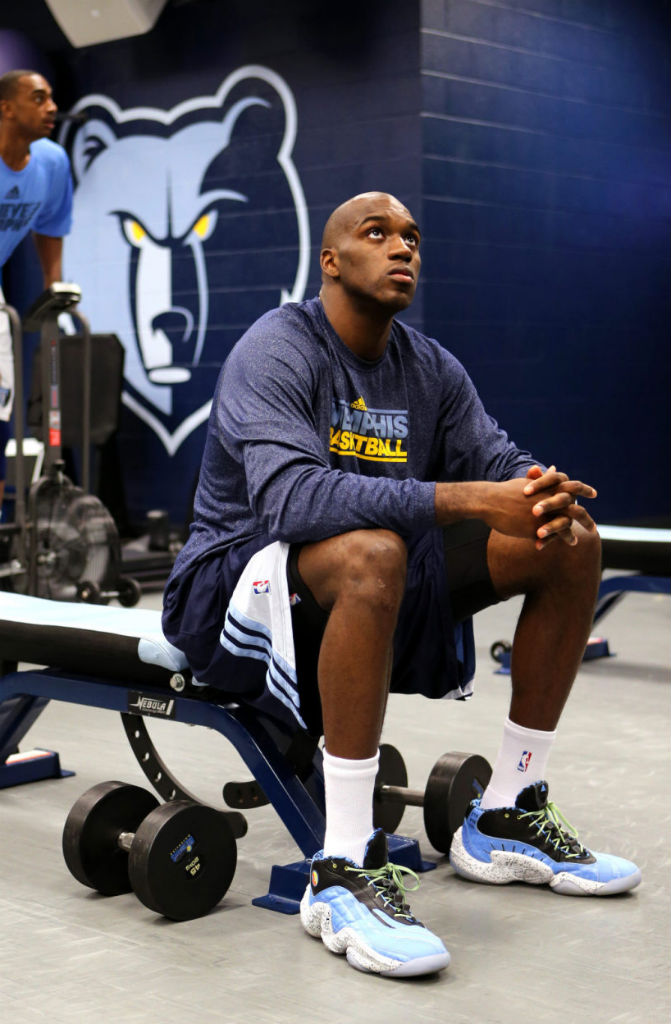 Quincy Pondexter wearing adidas Real Deal 93 Pack