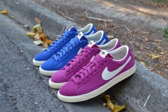 enfants chaussure timberland - Fall Nike VNTG Blazer Low In Bleu \u0026amp; Rose | Sole Collector