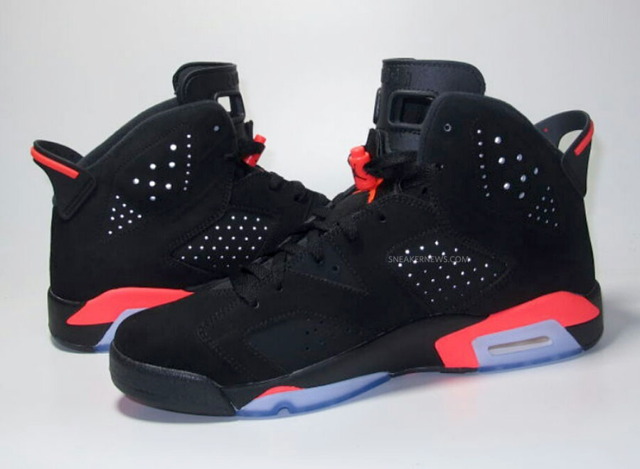 Air Jordan VI 6 Black/Infrared (8)
