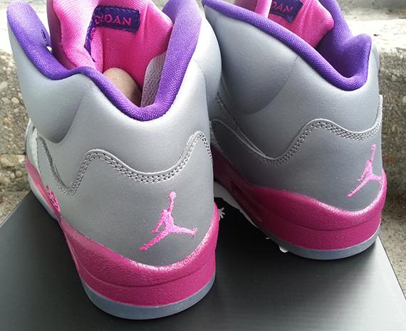 Air Jordan Grey And Pink