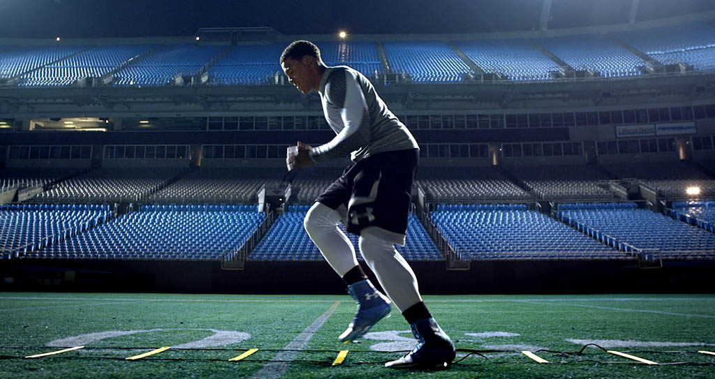 official photos 6005a 89d3b Under Armour's New Commercial Featuring Cam Newton ...