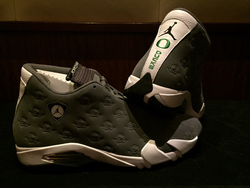 best sneakers 074ba 201e7 Oregon Ducks Air Jordan 14 (1)