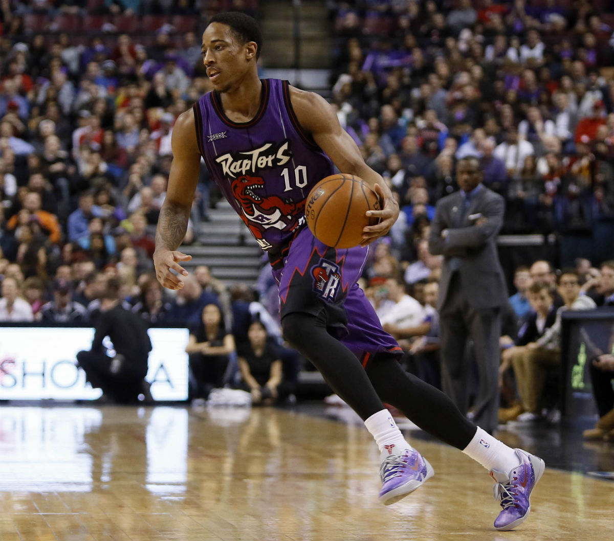 DeMar DeRozan Wearing Fan Designed Nike Kobe 9 EM in 2015