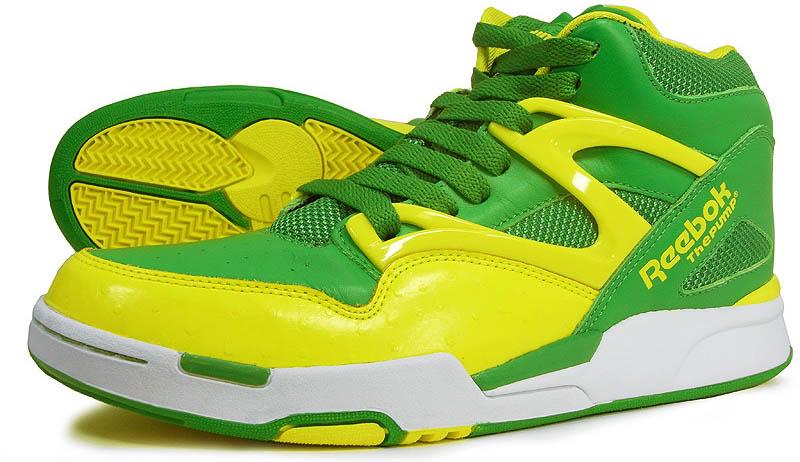 Reebok Pump Omni Lite Hero Green Yellow White J12420 (2) af04685a73