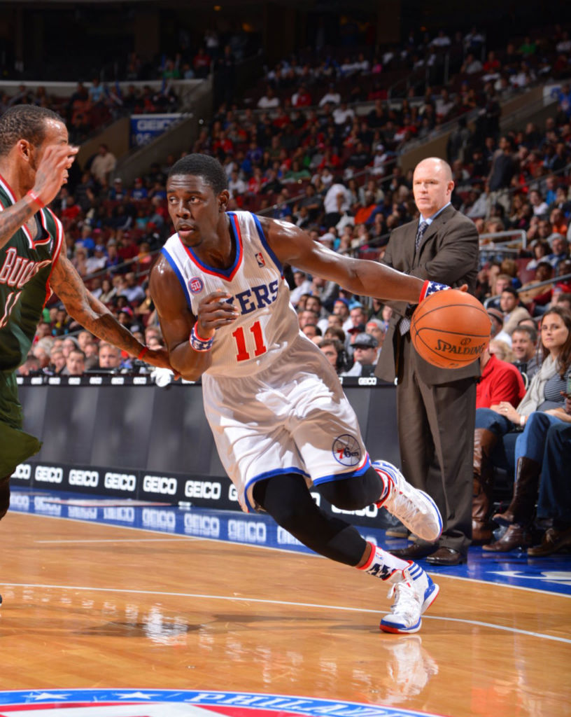 Jrue Holiday wearing adidas adizero Crazy Light PE