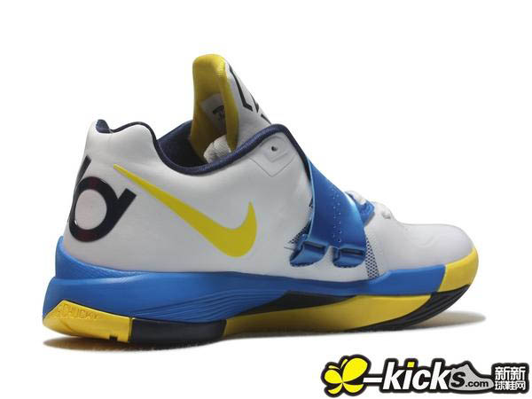 promo code a0e8d d8640 Nike Zoom KD IV White Tour Yellow Photo Blue Midnight Navy 473679-102 (6