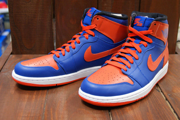 a36aea28c91e8a Air Jordan Retro I 1 High OG Knicks Melo Game Royal Team Orange 555088-407