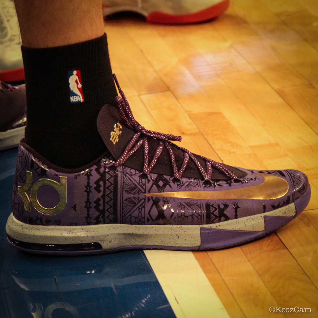 Sole Watch: Up Close At MSG for Knicks vs Nets - Mirza Teletovic wearing Nike KD 6 BHM