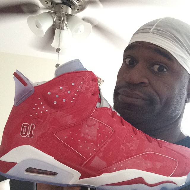 Stephen Jackson wearing Slam Dunk x Air Jordan VI 6