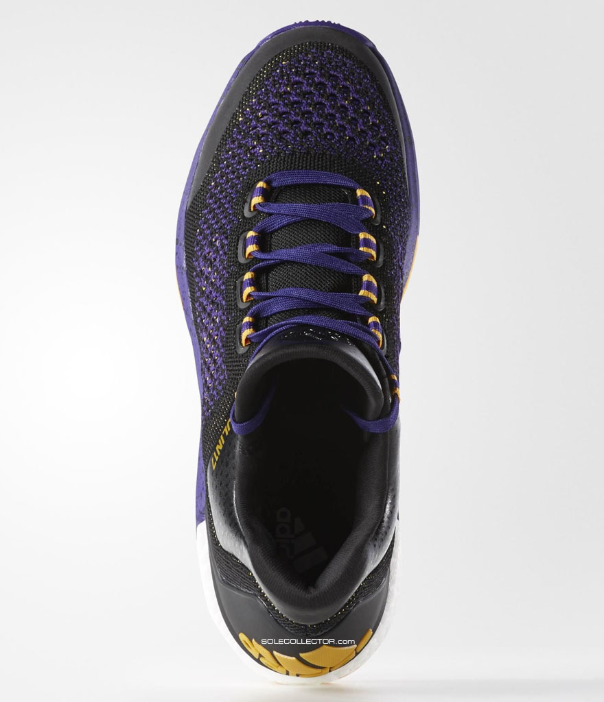 best service a0a7e ce99c Jeremy Lins adidas Crazylight Boost 2015 Lakers PE (2)