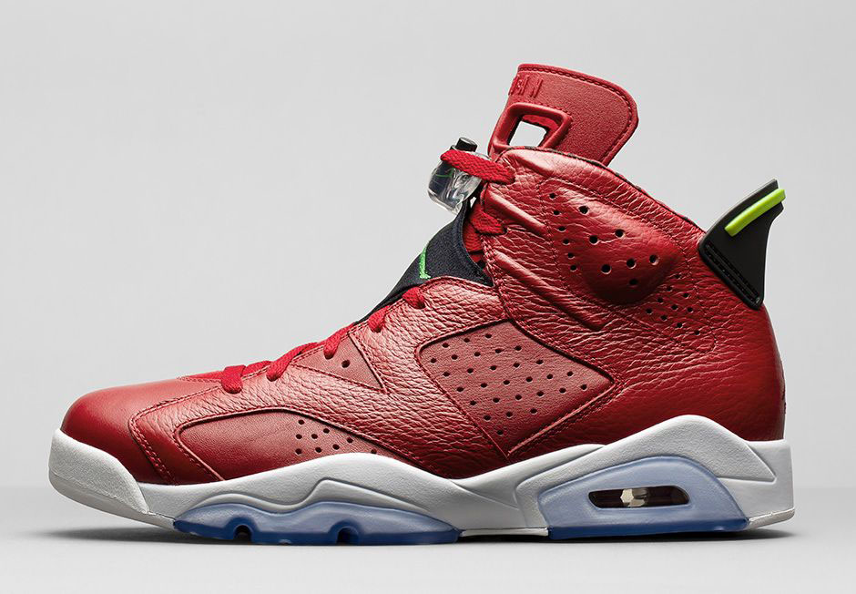 wholesale dealer fd3d2 cffdb Air Jordan VI 6 Spizike History of Air Jordan Red 694091-625 (2)